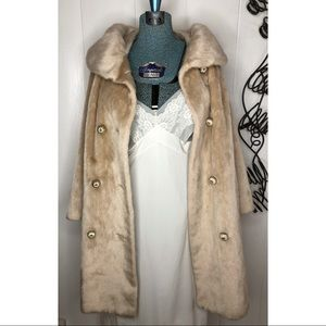 Vintage Faux Fur Coat 60s Lovely Collar Lined